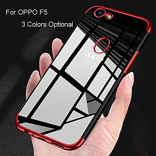 20a2a241c9 Generic Transparent Clear Electroplate Soft Silicone TPU Phone Case Phone  Cover For OPPO F5 For Oppo F5 642093 Color-2