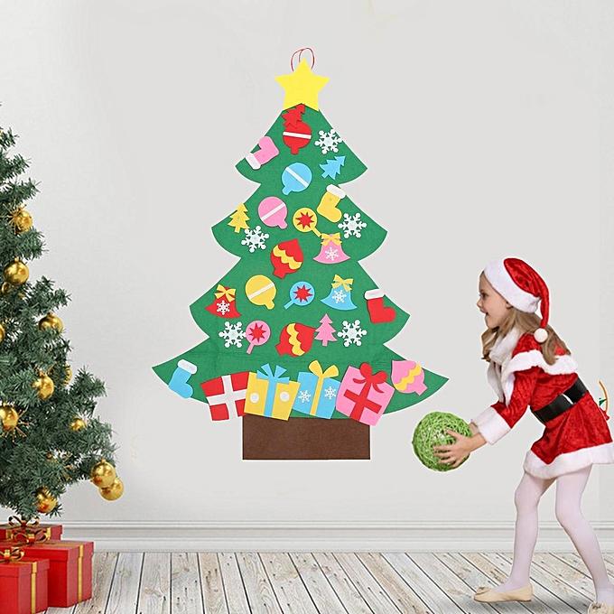 buy generic kids diy felt christmas tree set with ornaments door wall hanging decoration toddler. Black Bedroom Furniture Sets. Home Design Ideas