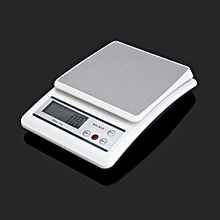 7Kg/1g LCD Electronic Kitchen Scale Digital Scale High Precision Balance-White