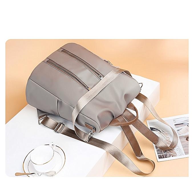 a2be2263111b ... Fashion Oxford Cloth Ladies Backpack Casual Handbag Crossbody Single-shoulder  Bag with Plush Ball (