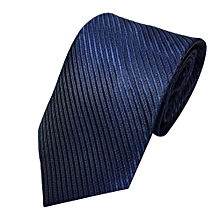 Fohting Mens Classic Jacquard Woven Striped Necktie Men's Tie Party Wedding Tie  -Navy