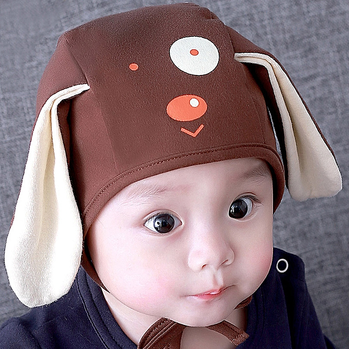 3395d5bdad4c5 Toddler Infant Baby Kids Boys Girls Cartoon Dog 3D Ears Beanie Headgear Hat  Cap-Coffee