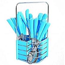 24 pcs Stainless Steel Cutlery Set Cutlery + Rack