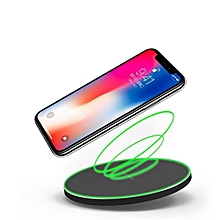 Qi Wireless Charger for iPhone X 8 Plus Fast Wireless Charging for Samsung Galaxy S8 S7 Edge Note 8 Wireless Charger - Black