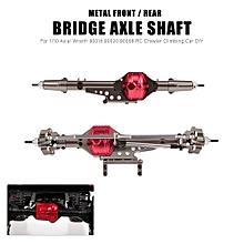 Front and Rear Bridge Axle Shaft Metal for 1/10 Axial Wraith 90018 90020 90056 RC Crawler Climbing Car DIY