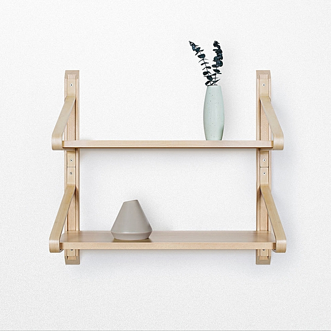 Wondrous Xiaomi Huoxu Natural Solid Wood Wall Mount Shelf Shelves Bracket Nordic Curved Storage Display Bookshelf 2 Home Interior And Landscaping Elinuenasavecom