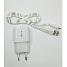 Infinix Charger 2 PIN - White