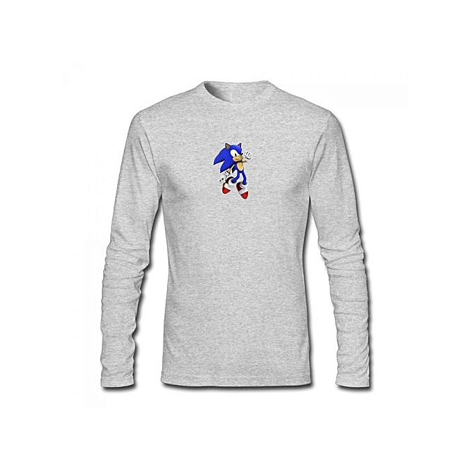 11c979127 Generic Sonic The Hedgehog Jump 3d Render Men's Cotton Long Sleeve T ...