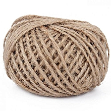 Jute Twine 30Meter Natural Sisal 2mm Rustic Tags Wrap Wedding Decoration Crafts Twisted Rope String Cord Events Party Supplies (Brown)