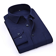 Navy Blue Official Shirt - Slim fit
