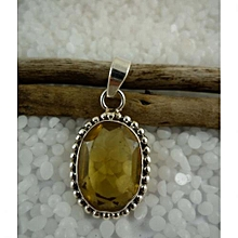 925'Sterling Silver with Citrine Pendant