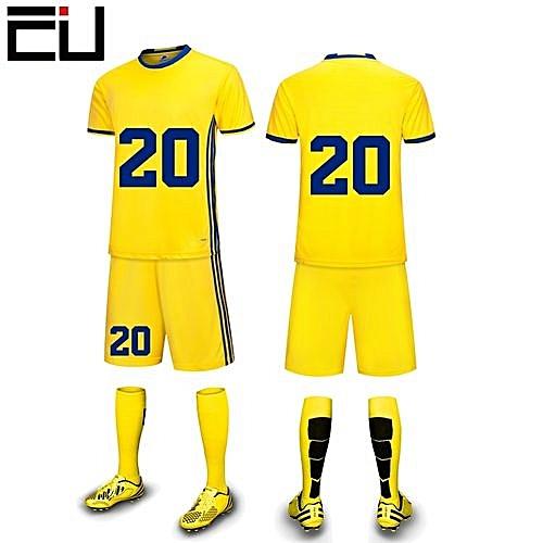 e63d140405fb Longo Customized Youth Children Boy s Football Soccer Team Sports Jersey  Set-Yellow(6200)