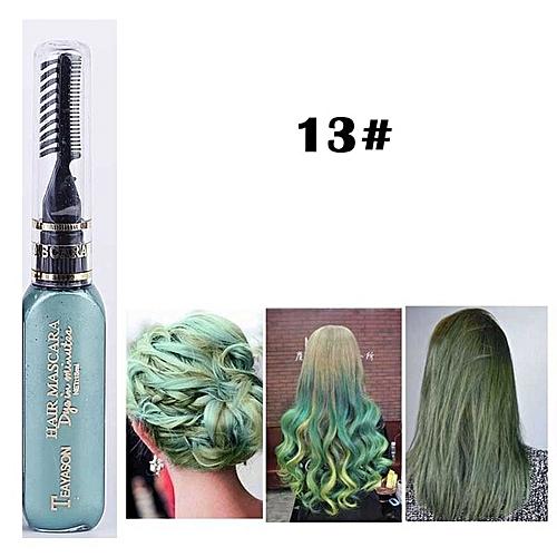 Uni Beauty Women Hair Color Styling Hair Dye Color Chalk Temporary Non Toxic Diy Hair Cream Party Dye Pen Crayons For Hair 13