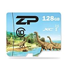 ZP Herbivorous Dinosaur Micro SDXC Card Data Storage Gadget BLUE 128G