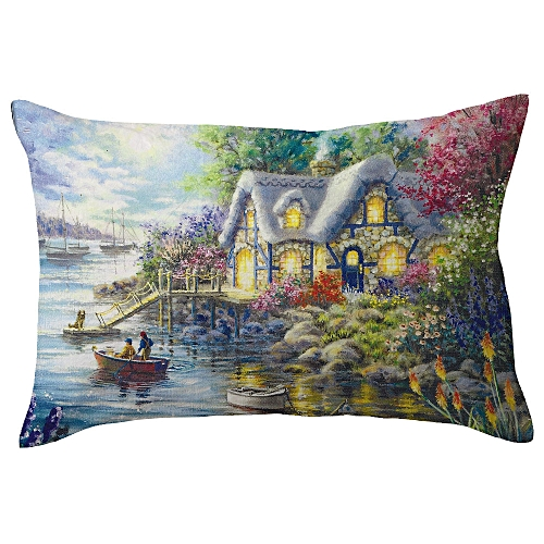 Buy Generic Merry Christmas Linen Pillow Cases Sofa Rectangle Awesome Decorated Pillow Cases