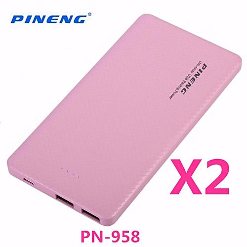 (BUNDLE)2 X PINENG PN-958 PN958 PN 958 10000MAH POWER BANK BGmall