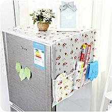KCASA KC-SR10 PVC Anti-dust Waterproof Oil-proof Refrigerator Fridge Cover With 2 Pockets Organzier