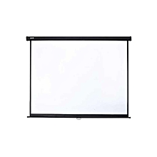 Manual Pull Down Wall Mounted Projector Screen - 96'' - 16:9 - White