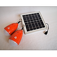 EcoZoom Solar Duo-Light Orange with white light