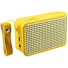 JOWAY BM020 Portable Hands-free Wireless Stereo Bluetooth 4.0 Speaker-YELLOW