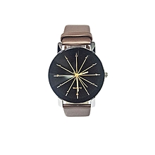 Ladies Quartz Leather Wrist Watch -Brown