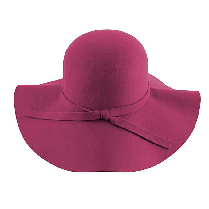 8f8db5b05c7cd Vintage Women Lady Wool Felt Floppy Wide Brim Fedora Bowler Cloche Hat Cap
