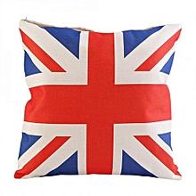 Fashion Sofa Waist Cushion Cover Bed Pillow Case Throw Pillow Home Decor UK Flag