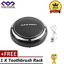 [Buy 1 Get 1 Free Toothbrush Rack] Automatic Robotic Dust Sweeping Machine Vacuum Cleaners Black