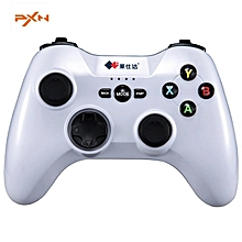 Litestar3 PXN-9603 Wireless Game Controller Gaming Joystick Vibration Handle Gamepad For PC Computer White