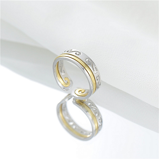 7fb86598e5 Gold Ring No.15 > 925 Sterling Silver-Couple's Ring Girl with Stop Shaking