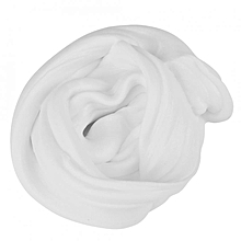 DIY Fluffy Slime Stress Relief Plasticine Anxiety Reducer Mud Clay Toy For Child Adults(White)