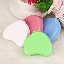 Denture Bath Appliance Heart-shaped False Teeth Box Storage Case Rinsing Basket