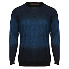 Casual Male Gradient Long Sleeve Shirt - Blue