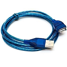1.5M USB 2.0 Extension Cable - Male To Female Cable - 1.5m- Blue