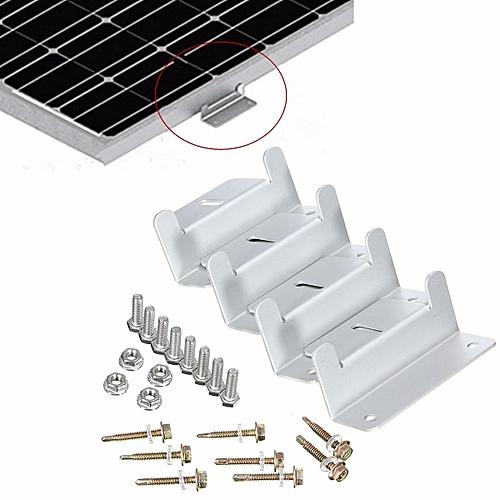 4PCS/Set Solar Panel Mounting Bracket Kit For Flat Roof Wall Aluminum