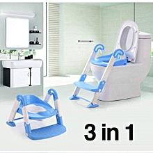 3 in 1 Kids Seat Toilet Trainer/ Toddler Toilet ladder - Blue & White