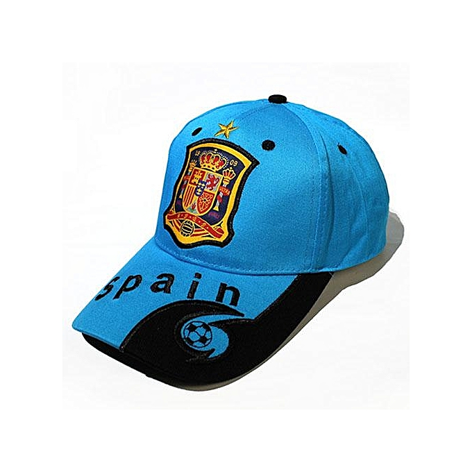 2018 Football baseball Cap letter print England Brazil Spain France  Argentina Germany Fans Caps Headwear Hat ... 695a98210f5