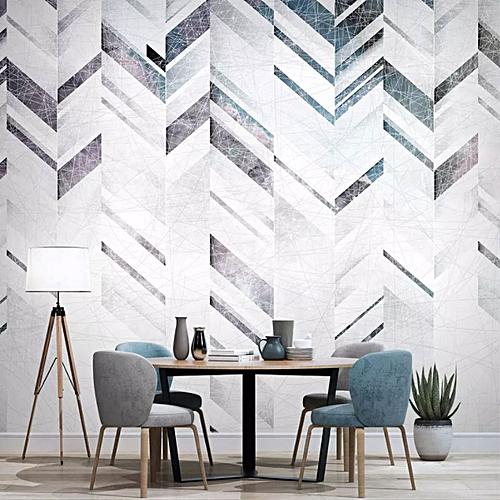GENERAL European wallpaper living room sofa geometric non - woven wallpaper