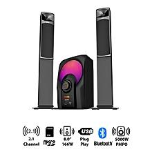 AHT-8075 - 2.1 Ch - 5000W - SubWoofer - Bluetooth - Black