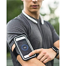 Water Resistant Cell Phone Armband for iPhone 8 Plus, 7 Plus, 6 Plus, 6S Plus, Galaxy S9/S8/S6/S5, S9 Plus, S8 Plus, Note with Adjustable Elastic Velcro Band & Key Holder for Running, Walking