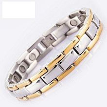 Hot sale Energy Magnetic Bracelet Men Golden Chain Link 316L Stainless Steel Bracelets Bangle