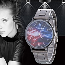 Women Retro Alloy Steel Bracelet Watch Watches Star Pattern Fashion Table G