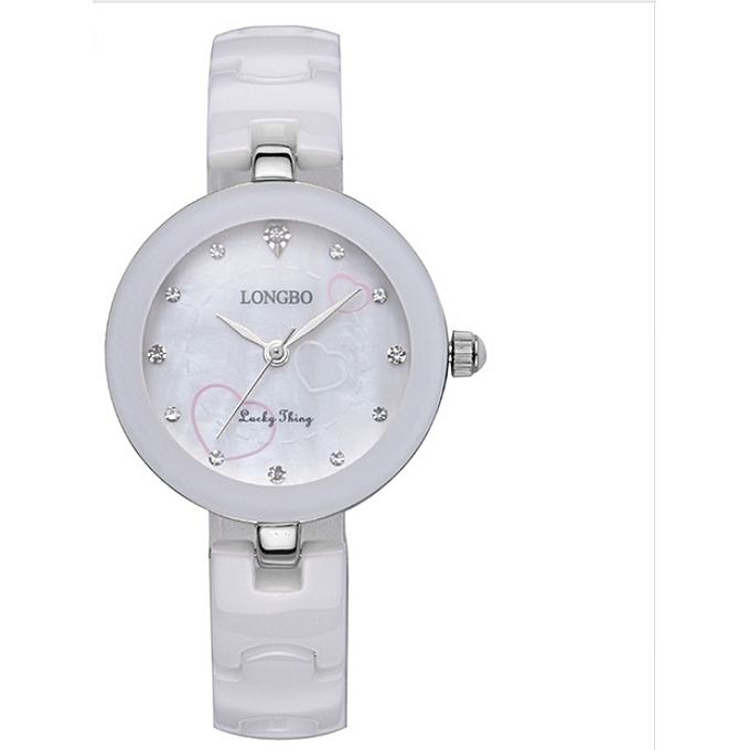 Women Watches Classic White Ceramic Ladys Quartz Watch