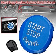 Blue Start Stop Engine Button Switch Cover For BMW X5 X6 E70 E71 E90 E91 E92 E93