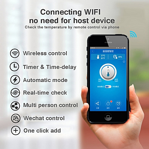 Sonoff TH10 WiFi Smart Switch Remote Controller Smartphone Temperature and  Humidity Sensor for Smart Home