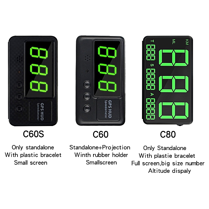C80 GPS HUD full HD screen heads up display for universal car or motorcycle  Overspeed Alarm Altitude display HUD YOUENS