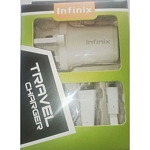 Infinix Smart Phone Charger - White