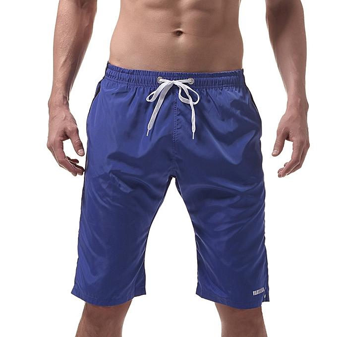 4b17f1aa29 New Summer Men's Shorts Home Pants Beach Shorts Casual Sports Pants Pure  Color Casual Slim Shorts