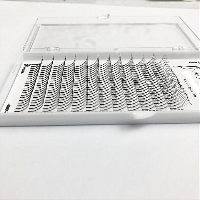 1box big capacity Russian Volume Eyelash 3D Eyelash Extensions 0 07 mm  Thickness C D curl Mink Strip Eyelashes Individual LashesCurl: D Thickness: