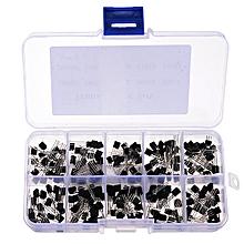 3 x 200pcs 10 Values Transistors Pack Transistor Assortment Kit With Storage Box